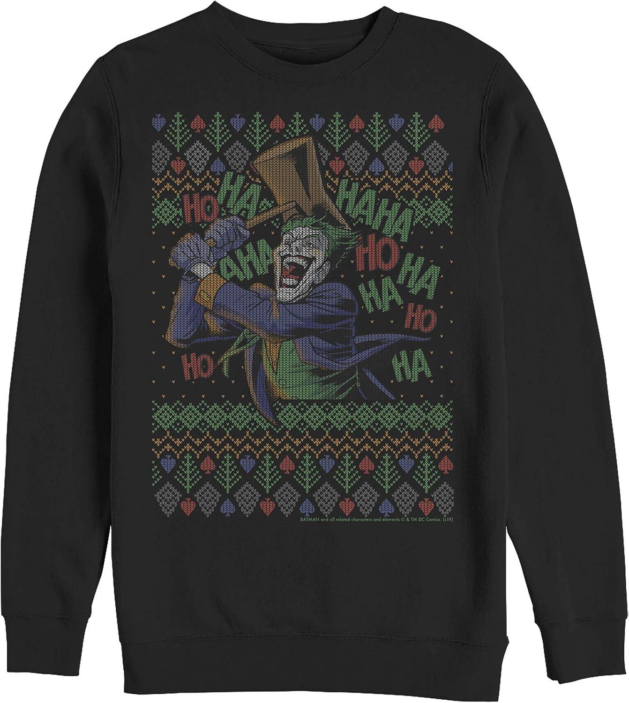 Super-cheap Fifth Sun Men's Quality inspection Batman Ugly Joker Christmas Sweatshirt Ha