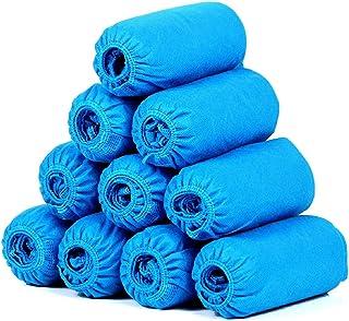 SGODDE 100 pezzi Copriscarpe Monouso Impermeabili, Copriscarpe in Tessuto Non Tessuto Impermeabile per Calzature da Intern...