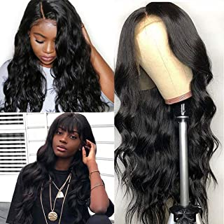 Ali Moda 360 Lace Frontal Wigs Pre Plucked with Baby Hair,Bleached Knots Body Wave Human Hair Wigs 360 Lace Wigs 150% Density Human Hair Natural Hairline (12