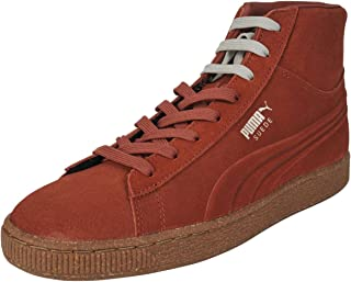 PUMA Mens Emboss Mixed Suede Hight Top Lace Up Fashion Sneakers US
