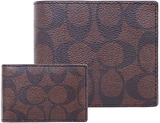 [コーチ] COACH 財布 (二つ折り財布) F74993 マホガニー×ブラック QBAE4 シグネチャー PVC コンパクト 二つ折り財布 メンズ レディース [アウトレット品] [ブランド] [並行輸入品]