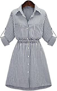 Henraly Autumn Winter Women long Sleeve stripe Bodycon Party Dresses Cotton Blends Plus Size