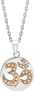 Finecraft 'Om' Symbol Pendant Necklace