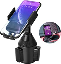 Car Cup Holder Phone Mount,Universal Smart Adjustable Automobile Cell Phone Mount for iPhone 11 pro/Xs/Max/X/XR/8/7/6 Plus Samsung Galaxy S10/S9/S8 Note 9 Nexus Sony、HTC、Huawei、LG and All Smartphones
