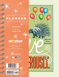 TF Publishing 2018 Academic Live Dangerously 6.5x8 Daily Weekly Monthly Planner - July 2017-June 2018 Calendar (18-9046A)