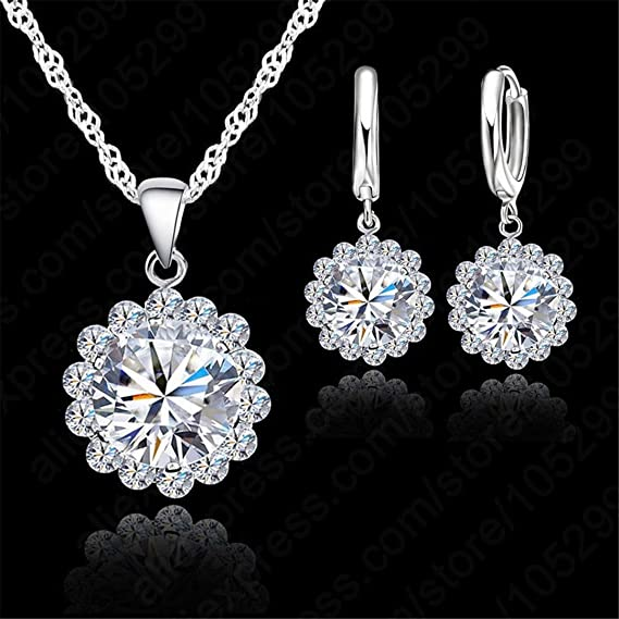 New Pearl necklace Settings Zircon Solid 925 Silver Necklace for Women Mounting Necklace Adjustable Size DIY Jewelry Gift 6PCSLOT