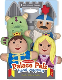 Melissa & Doug Palace Pals Hand Puppets - The Original (Set of 4 - Prince, Princess, Knight, and Dragon - Soft Plush, Great Gift for Girls and Boys - Kids Toy Best for 2, 3, 4, 5 and 6 Year Olds)