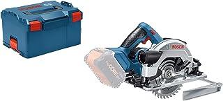 Bosch Professional GKS 18V-57 G Sierra circular, Disco 165 mm, sin batería, en L-BOXX, 18 V, Azul