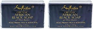 Shea Moisture Organic African Black Soap Acne Prone Face & Body For Unisex, 3.5 Oz.