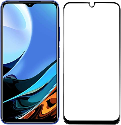 VIMES Tempered Glass Screen Protector Compatible for Poco M3 Redmi 9 Power with Edge to Edge Full Screen Coverage and Easy Installation Kit