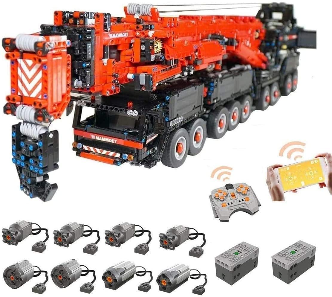 KCGNBQING Technic Liebherr LTM 11200 Crane, Conjunto de Edificios Personalizados con Control Remoto y 8 Motores, 7980 Bloques - Compatible con Lego Montaje de Rompecabezas