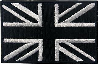 Tactical British Union Jack Embroidered Patch England Flag UK Great Britain Morale Applique Fastener Hook & Loop Emblem