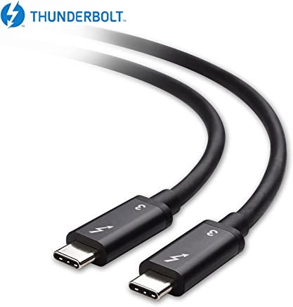 [Intel Thunderbolt 3 Certified] Mantiz 40Gbps Thunderbolt 3 Cable in Black Supporting 100W Charging 6.6 Feet for MacBook Pro and Others (Not Compatible with USB-C Ports Without The Thunderbolt Logo)