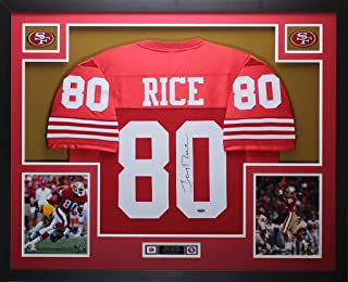 jerry rice autographed jersey