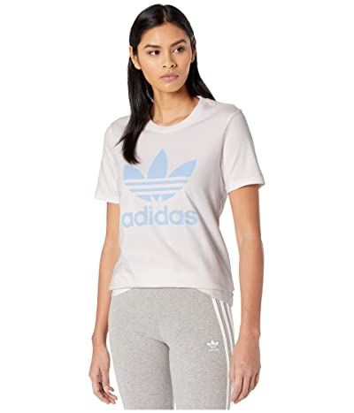 adidas Originals Trefoil Tee (White/Clear Sky) Women