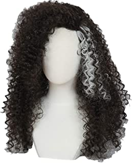 Linfairy Long Afro Curly Wig Halloween Cosplay Costume Wig For Women