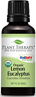 Plant Therapy Lemon Eucalyptus Organic Essential Oil 100% Pure, USDA Certified Organic, Undiluted, Natural Aromatherapy, Therapeutic Grade 30 mL (1 oz)
