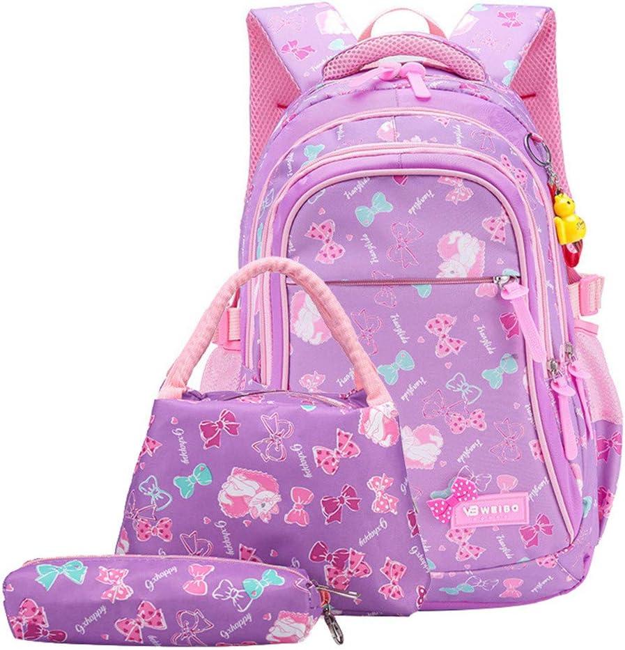 School Bags 3pcs Waterproof Primary Backpack Sets Teens Girls Elementary School Bookbag lovely Lunch Box