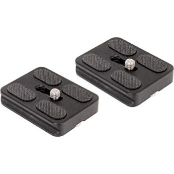 IVATION Set of 2 Replacement Quick Release Plates for The MeFoto A1350Q1W Roadtrip Travel Tripod Kit (White)