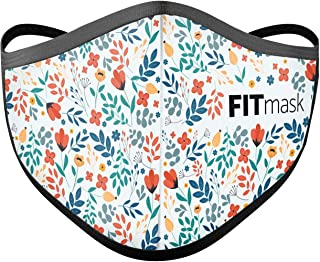 FITmask Mascarilla Pro Reutilizable Lavable Certificada Tejido Hidrófugo Made in Spain Floral Light - Adulto Cabecera - M