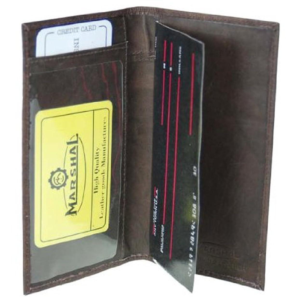 予測するお金ゴムトリップ本革二つ折りチェックBook Covers # 156cf