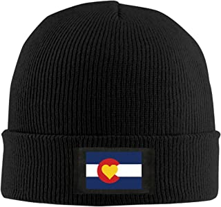 842c5252c8b Runningway Love Heart Colorado Flag Knit Winter Beanie Hat Skull Cap Unisex