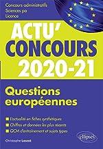 Livres Questions européennes 2020-2021 - Cours et QCM (Actu' Concours) PDF