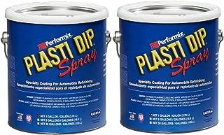 Plasti Dip Multi Purpose Rubber Coating Spray - Black - 1 Gallon, (Pack of 2)