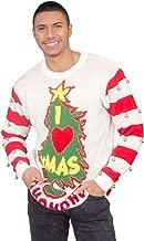 I Love Xmas HOHOHO Light Up (LED) and Bells on Sleeve Ugly Christmas Sweater