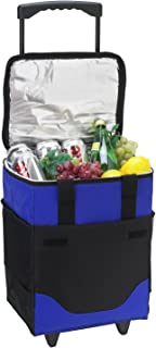 Picnic at Ascot Original 32 Can Collapsible Rolling Insulated Cooler- Designed & Quality Approved in the USA