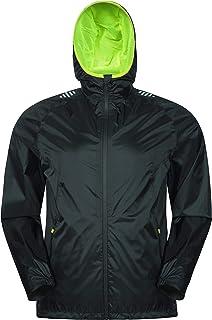 Mountain Warehouse Ultimate Mens Waterproof Jacket - 10,000mm, Breathable Running Rain Coat, Lightweight, Quick Dry Rain C...