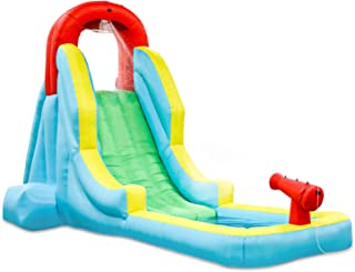 Deluxe Inflatable Water Slide Park – Heavy-Duty Nylon for Outdoor Fun - Climbing Wall, Slide, & Small Splash Pool – Easy to Set Up & Inflate with Included Air Pump & Carrying Case (Оne Расk)