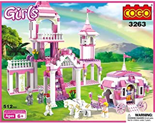 COGO Girls 510 Pieces the Cinderella Castle Building Block Construction Set 3263