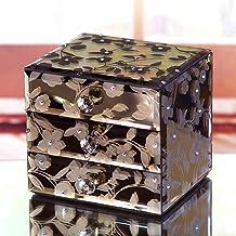 MU Boîte à Bijoux de Stockage en Bois Massif de ménage boîte de Rangement en Bois Massif/Grande boîte à Bijoux européenne/...
