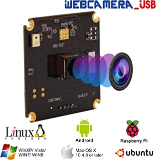 """BSG13MP Autofocus USB Camera Module 1/3"""" CMOS IMX214 Sensor with Non-Distortion Lens FOV 75Degree,Support 3840X2880,UVC Compliant,Support Most OS,Mini USB with Cameras,High Speed USB2.0 Webcam"""