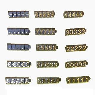 PC3721@ 1 Kit de cubos de precio para vitrina de tienda (340