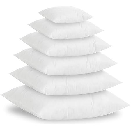 Textilhome - Set di 2 Cuscini in Piuma Sintetico Si, 45x45 cm - imbottiutra Interna 500g, per Cuscini Imbottiti, Cuscini in Piuma Sintetico, Cuscini per dicano.