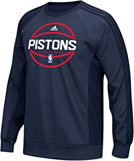 adidas Detroit Pistons NBA Navy Blue Authentic On-Court Team Pre-Game Crew for Men