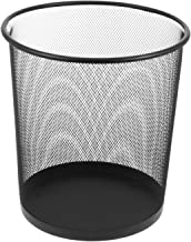 STOBOK Round Mesh Wastebasket Recycling Bin Iron Waste Paper Basket Large Trash Can Garbage Can Container Bin for Office B...
