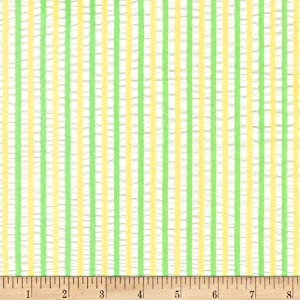 Robert Kaufman Breakers Seersucker Stripes Parakeet Fabric Fabric by the Yard