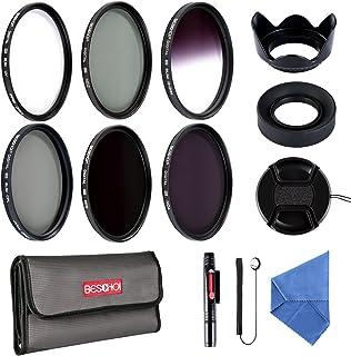 Beschoi - 52mm Lente Filtro Packs de Filtros Fotográficos para Nikon Canon EOS DSLR Cámaras (13 PCS Incluye UV CPL ND2 ND4 ND8 + Aceesorios)