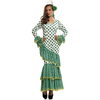 My Other Me - Disfraz de Flamenca, talla XL, color verde (Viving ...