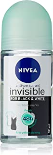 NIVEA Black & White Invisible Fresh Roll On Anti-Perspirant Deodorant, 50ml