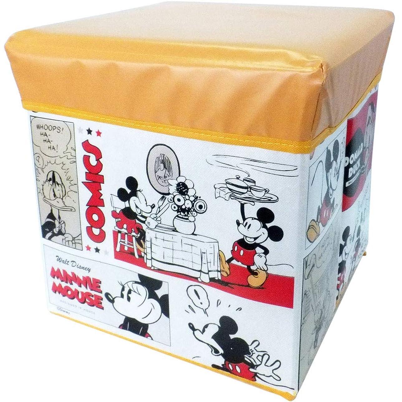 盆リズミカルな吸収するミッキー&フレンズ ys26783 座れる収納ボックス 小 ys26783 キャラクター Disney ディズニー 椅子 収納 ケース BOX ボックス インテリア 整理 整頓