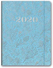 Orange Circle Studio 2020 Just Right Monthly Planner, August 2019 - December 2020, Floral Vines Slate Blue