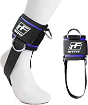 RitFit Padded Ankle Strap for Cable Machine,Strong Hook and Loop,Reinforced 3 D-Ring,..