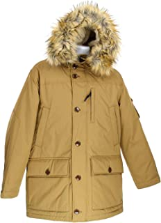 J Crew Nordic Mens Down Parka Coat Jacket Brown Size M E1315
