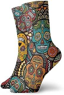 Elsaone, Niños Niñas Locos Divertidos Calcetines Mexicanos de Calaveras de Azúcar Calcetines Lindos de Novedad