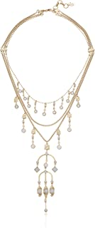 Lucky Brand Women's Aqua Layer Statement Gold Drama Necklace, One Size