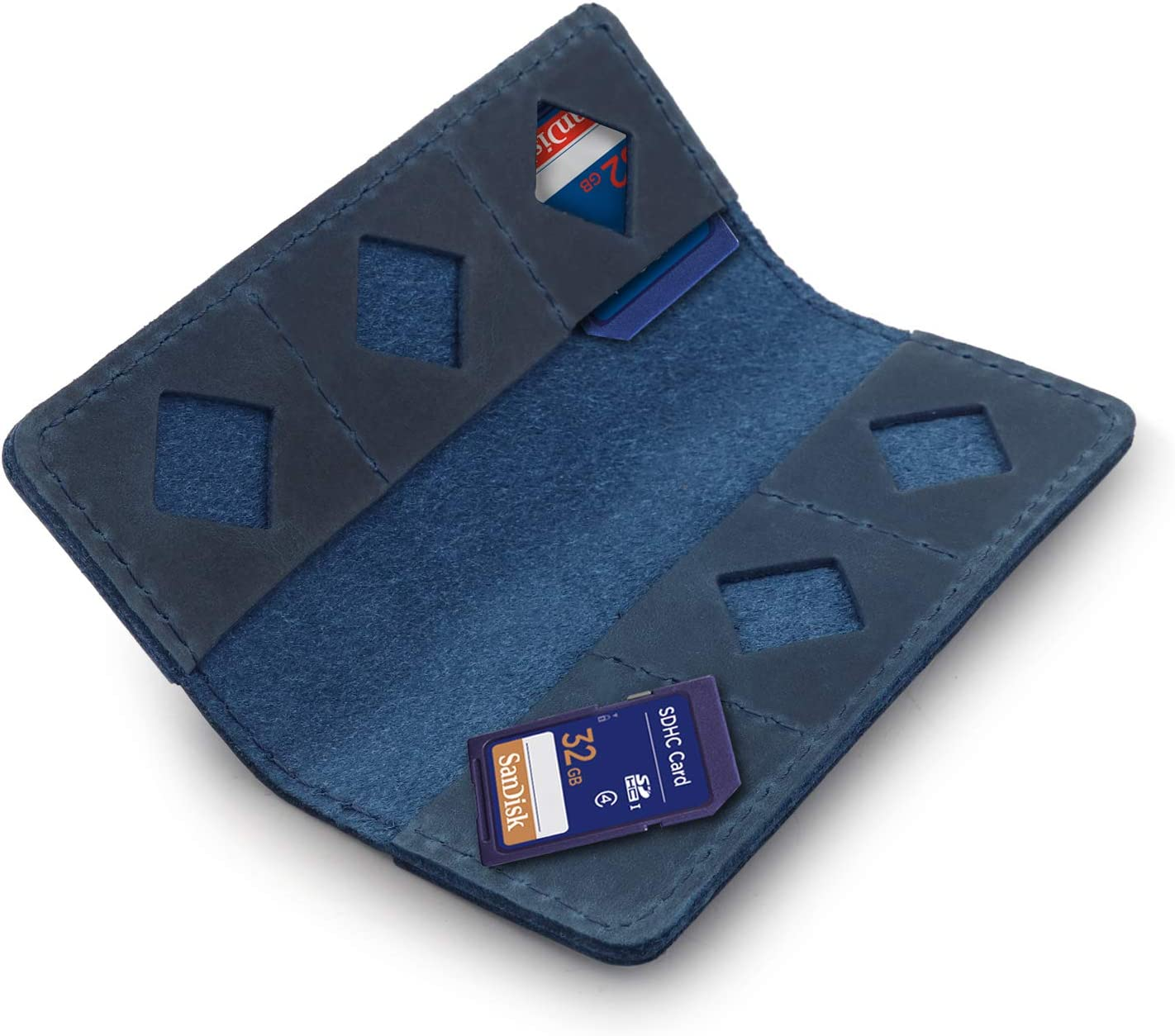 MegaGear Leather SD Card Holder with 12 Card Slots